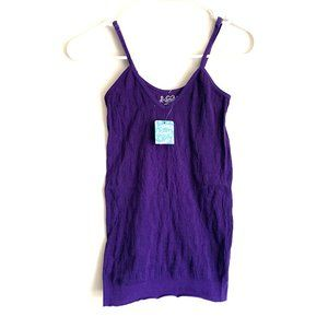 NWT Free People Purple Seamless Floral Cami Tank